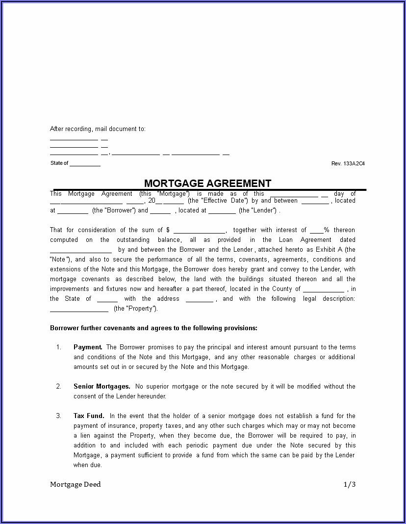 Mortgage Deed Format Pdf