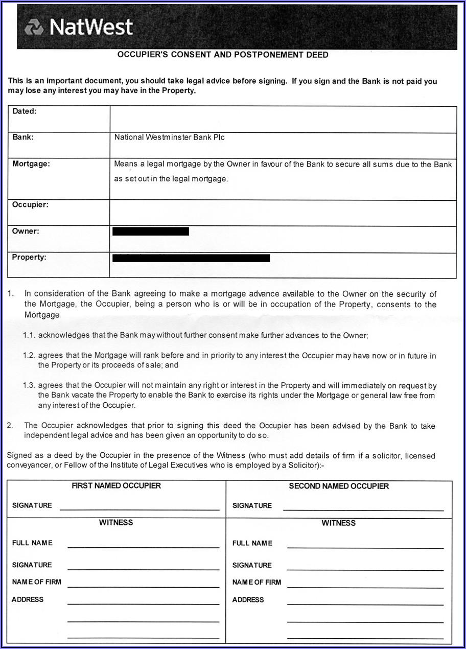 Mortgage Deed Template Uk