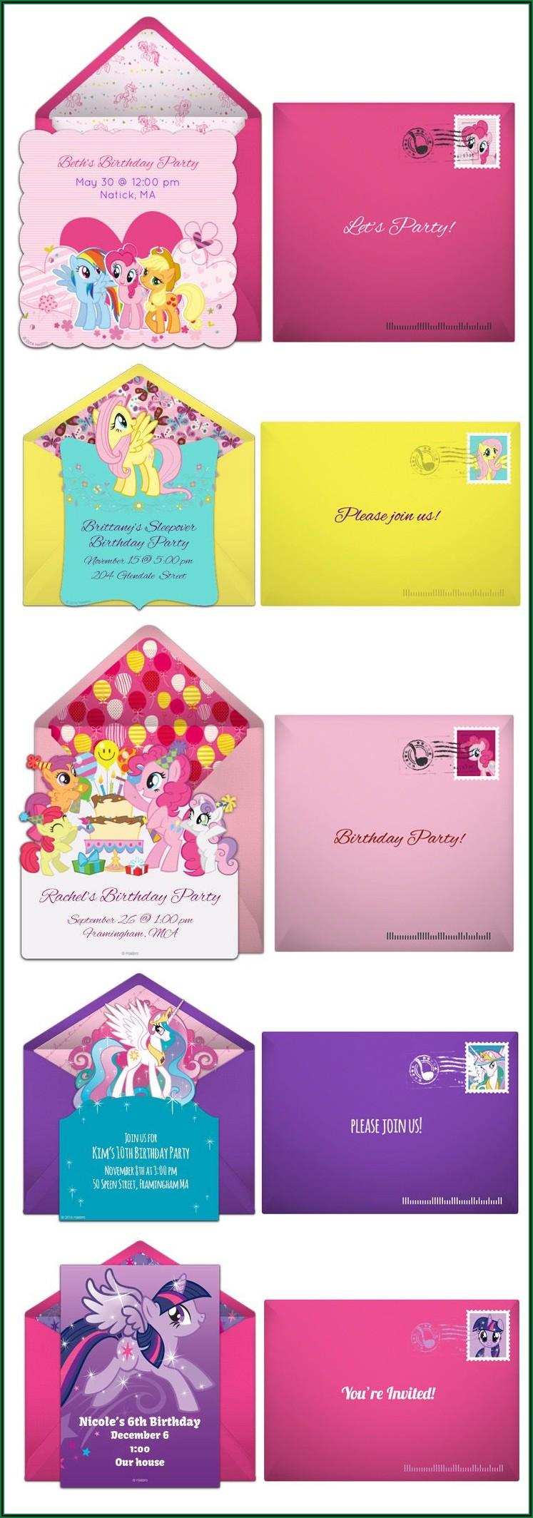 My Little Pony Birthday Invitations Online