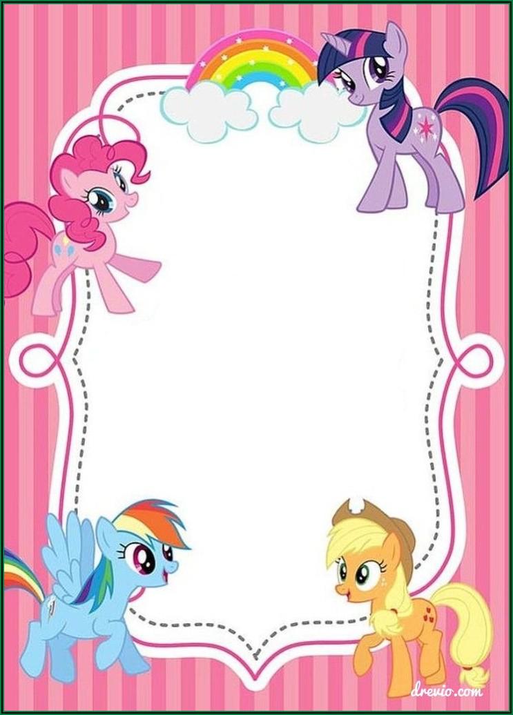 My Little Pony Party Invites Printable Free