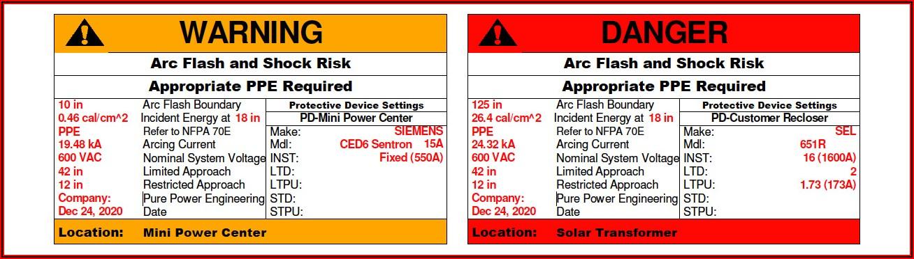 Nfpa 70e Risk Assessment Template