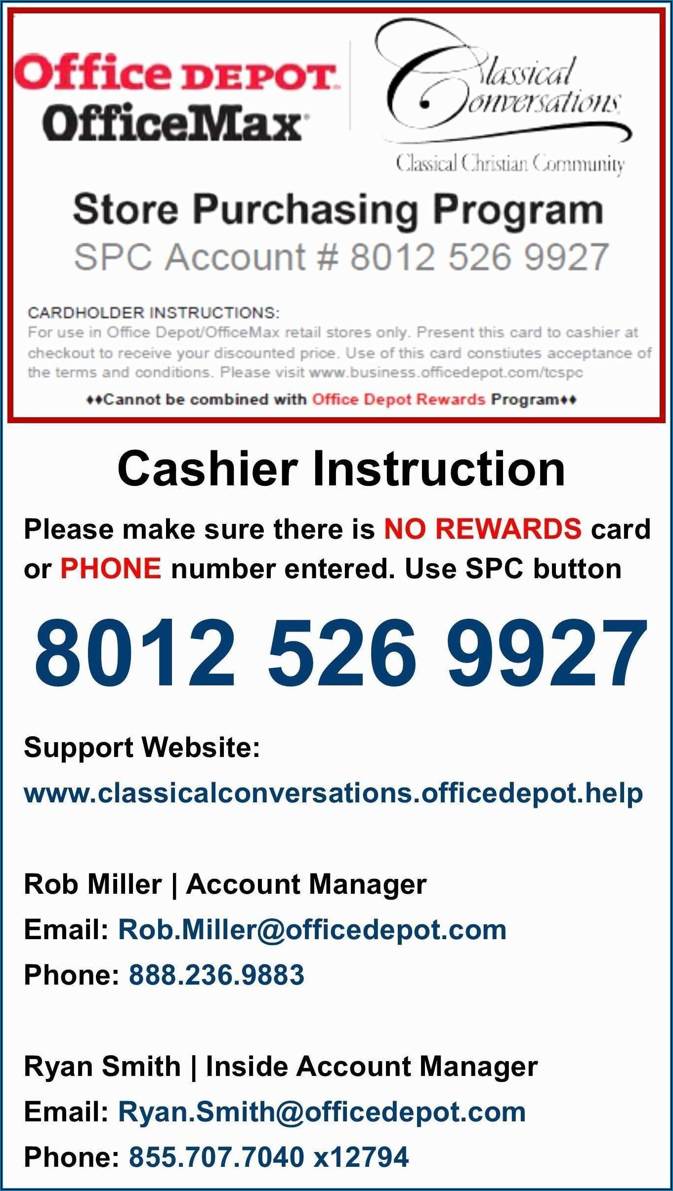 Office Depot Business Card Template 717 631