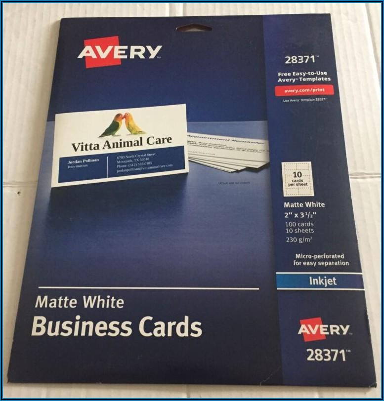 Office Depot Business Card Template 8376