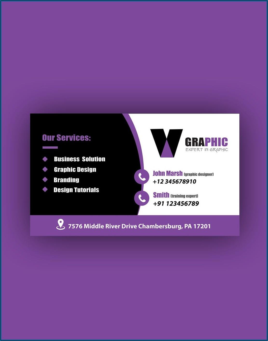 Office Depot Business Cards Template