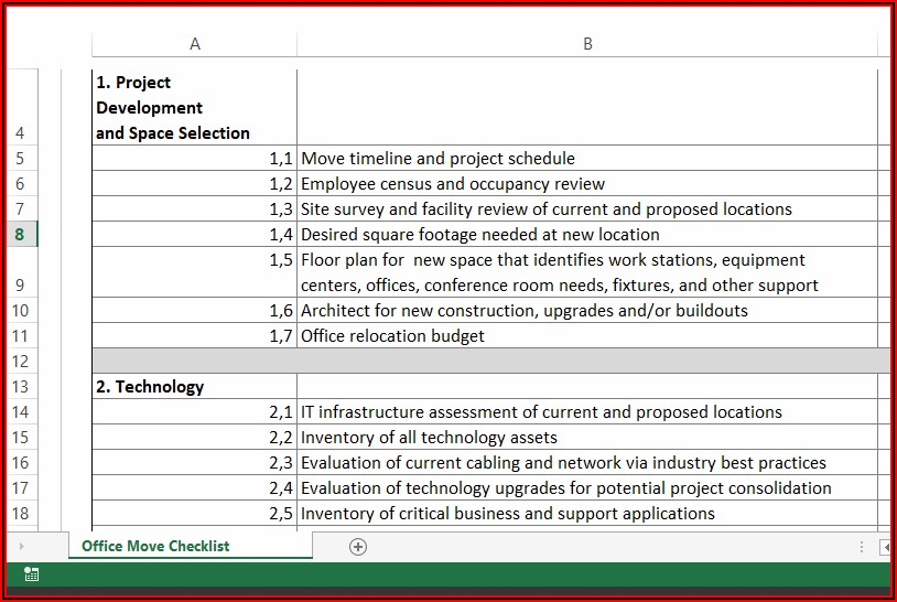 Office Relocation Action Plan Template