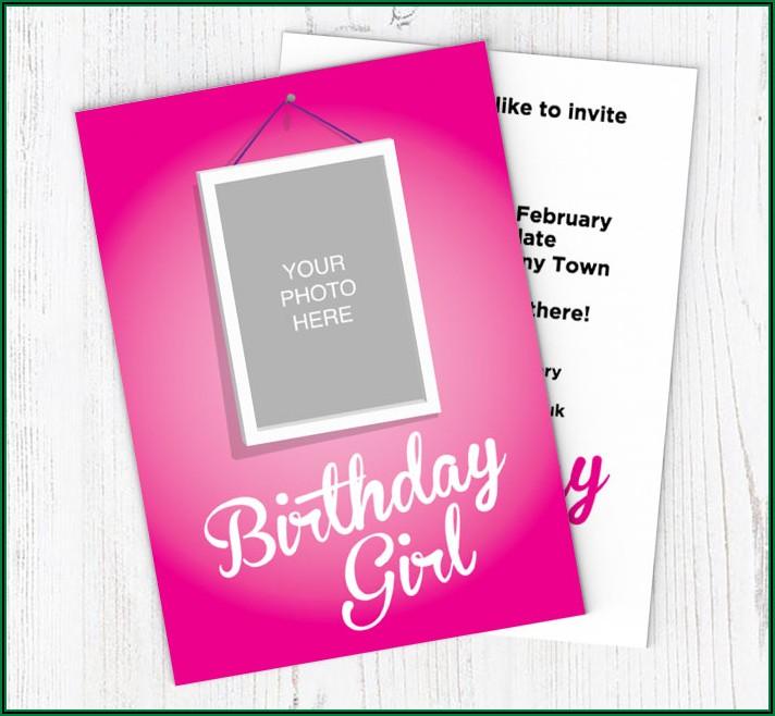 Online Photo Birthday Invitations