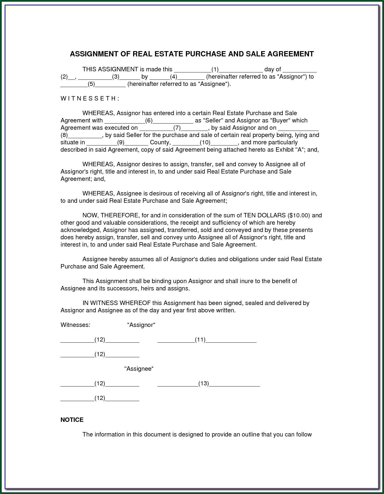 Oregon Real Estate Sales Agreement Form