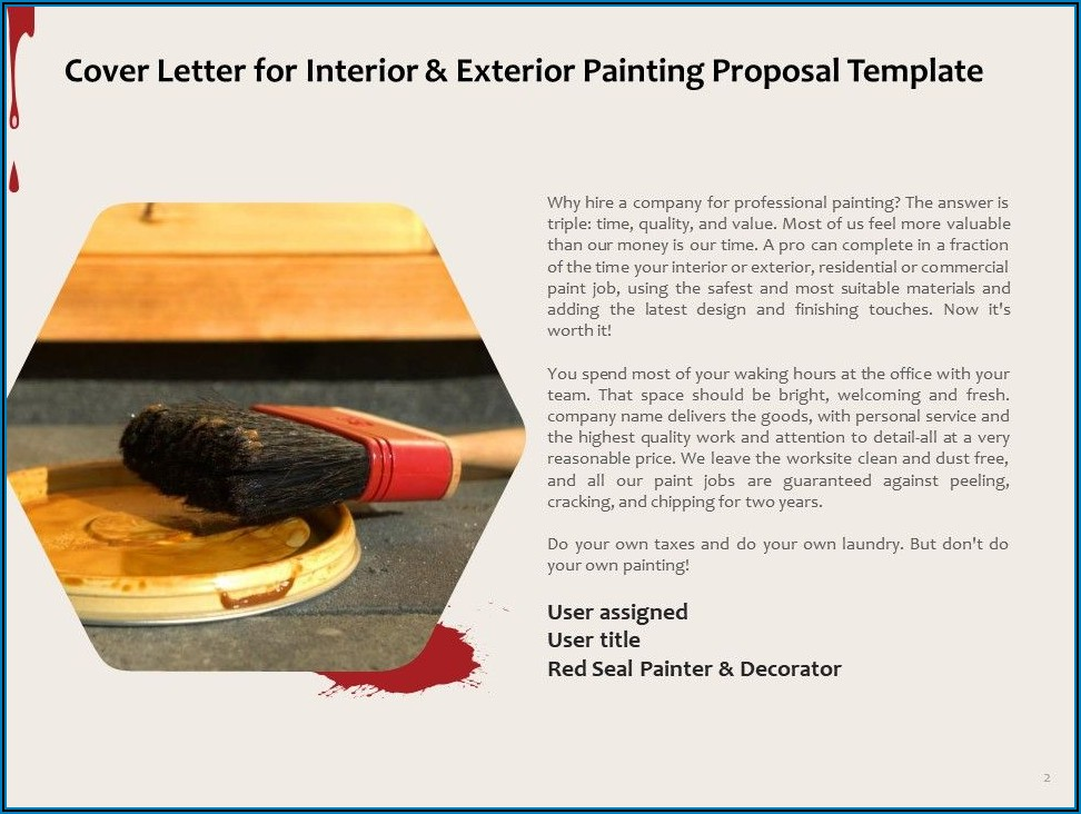 Painting Proposal Template Sample