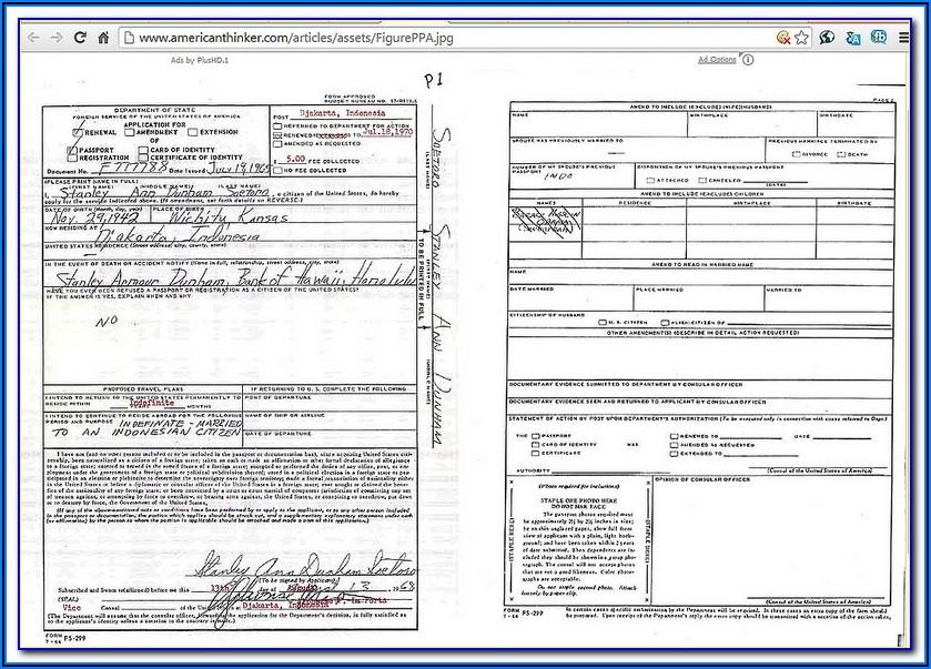 Passport Renewal Form Printable