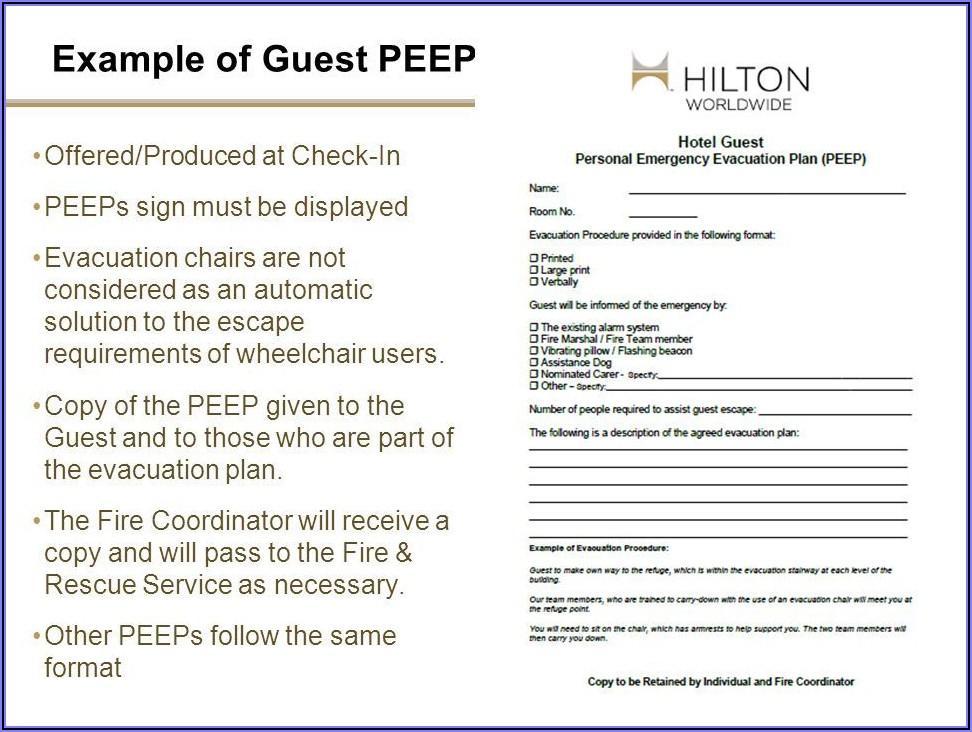 Personal Emergency Preparedness Plan Template