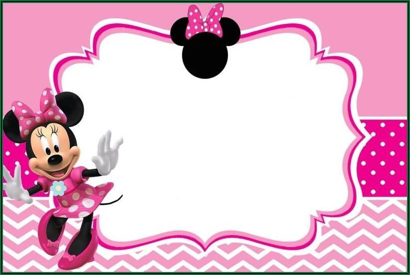 Personalized Editable Minnie Mouse Invitation Template