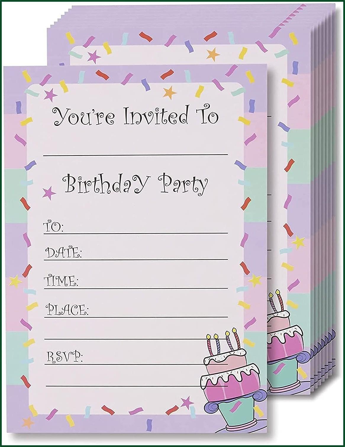 Print Birthday Invitation Cards Online India