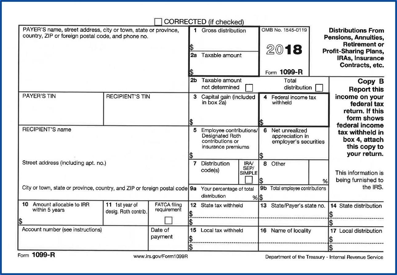 Printable 1099 R Form 2018