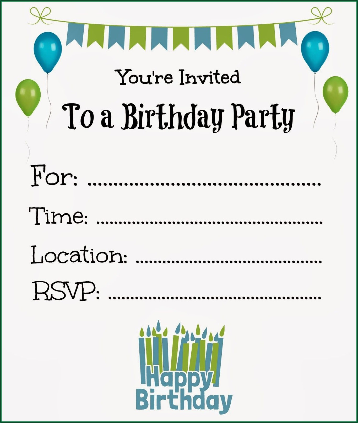 Printable Birthday Invitations Free Boy