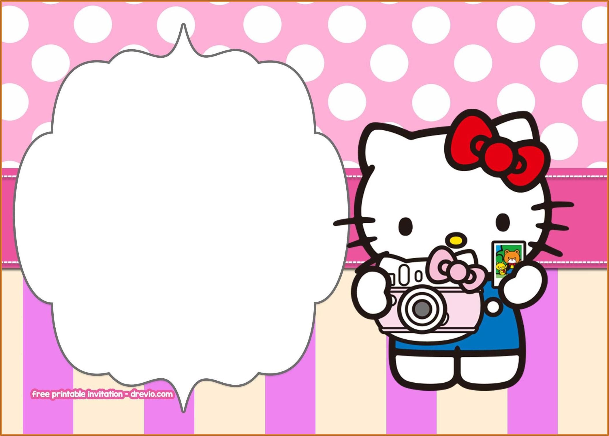 Printable Hello Kitty Invitation Templates