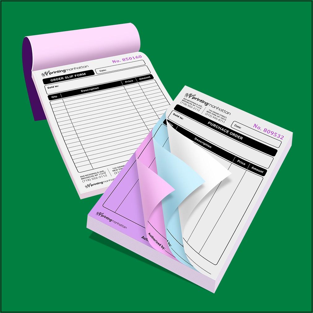 Printing Carbonless Forms