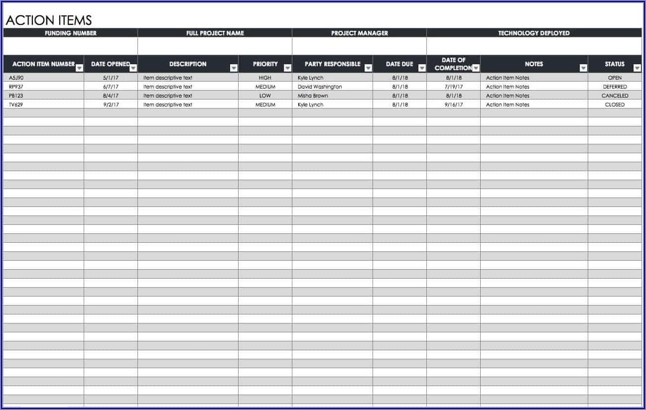 Project Time Tracking Excel Template