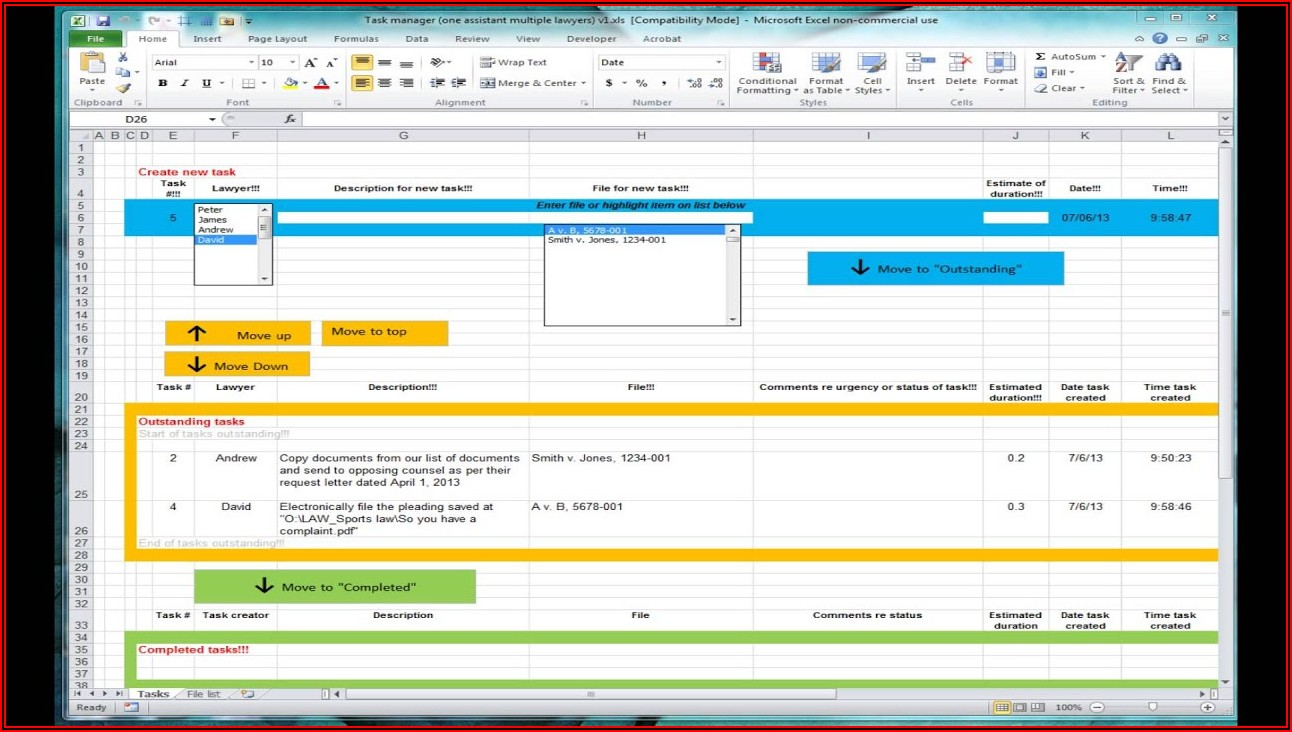 Project Tracker Template In Excel