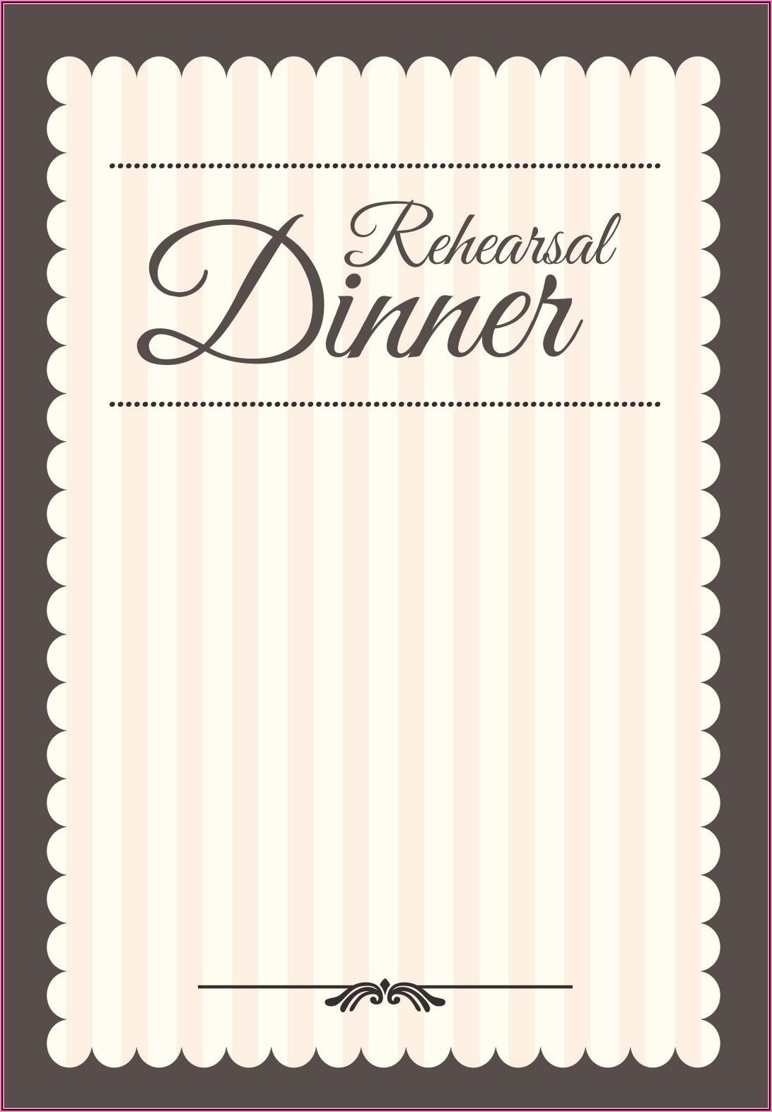 Rehearsal Dinner Invitation Template Printable Free