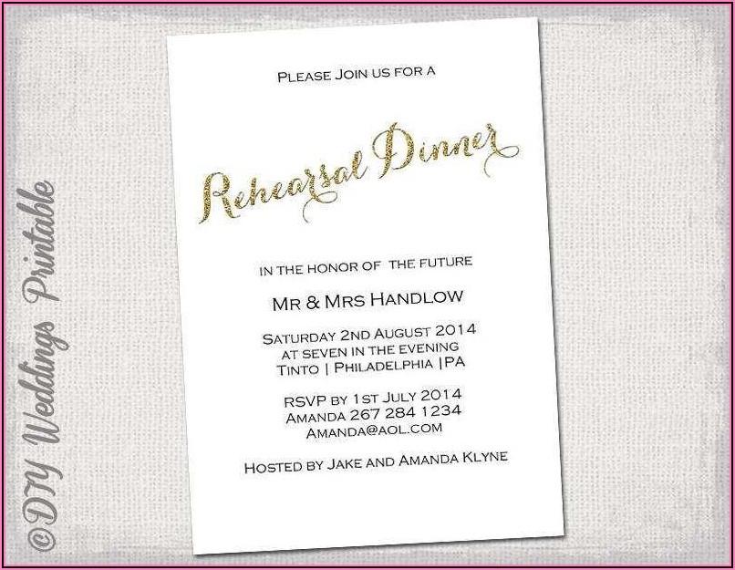 Rehearsal Dinner Invitation Template Word