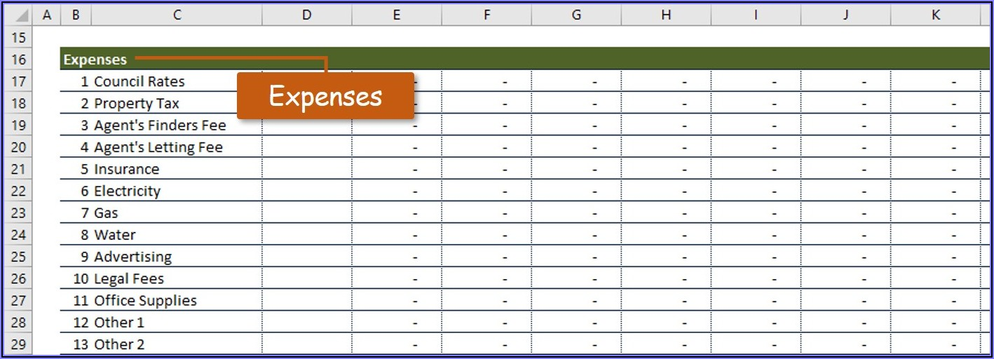 Rental Property Record Keeping Template Excel