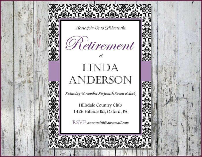 Retirement Dinner Invitation Template Free