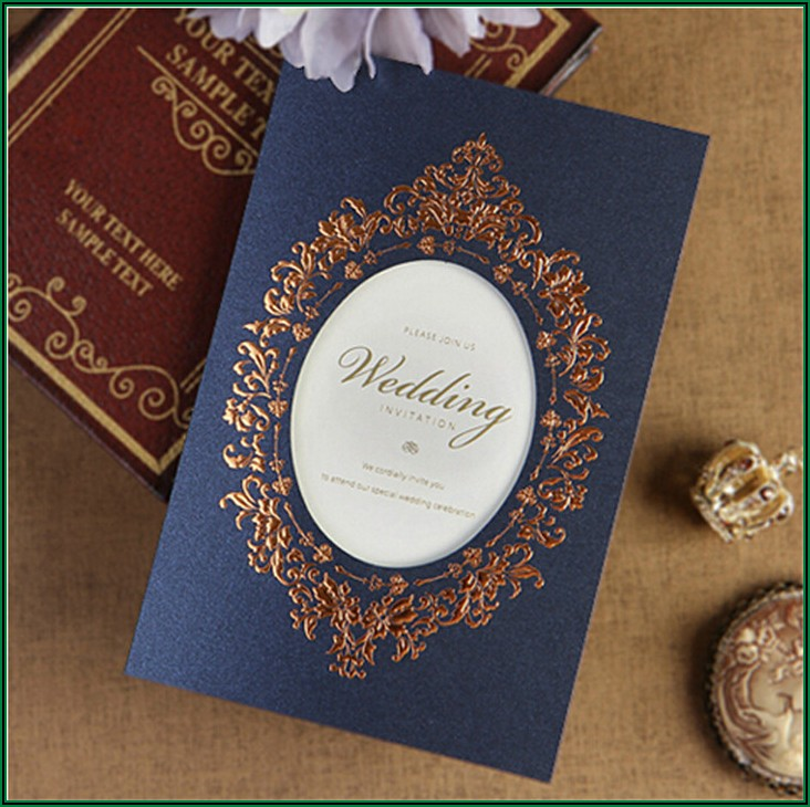 Royal Blue Wedding Invitation Design