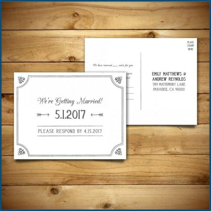 Rsvp Wedding Postcard Template