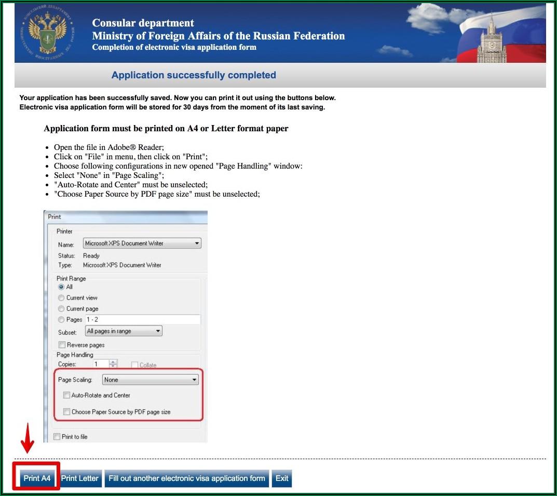Russian Visa Application Form For Pakistan