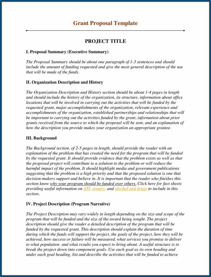 Sample Grant Proposal For Non Profit Organization Pdf