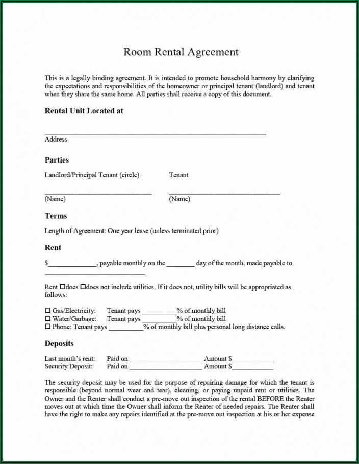 Simple Commercial Lease Agreement Ontario