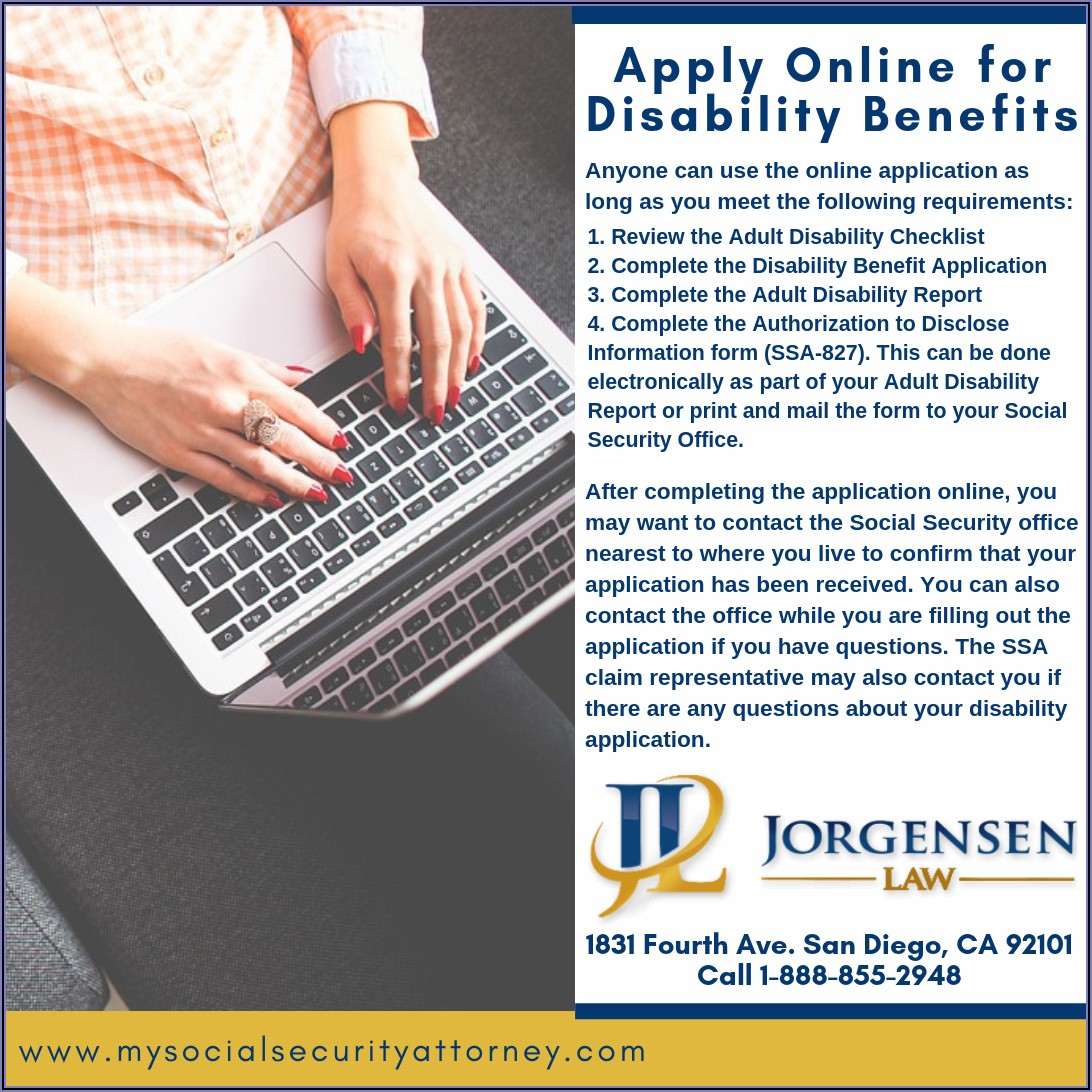 Social Security Disability Application Forms Online