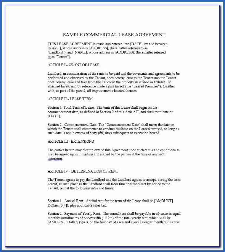 Sublet Tenancy Agreement Template