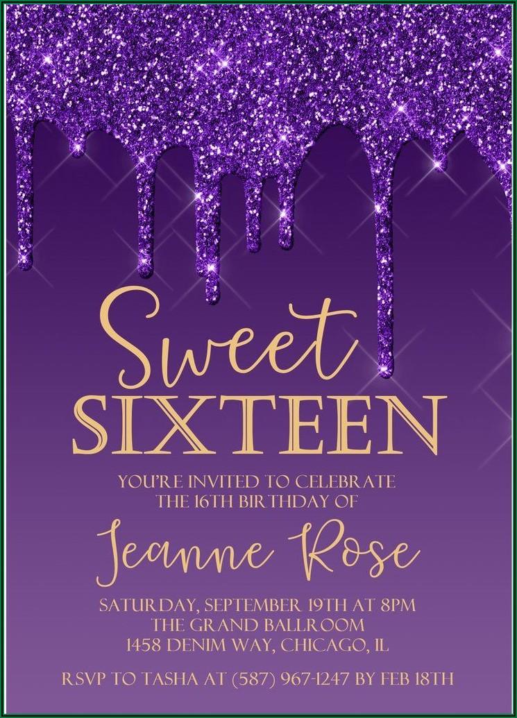 Sweet 16 Invitations Under $1