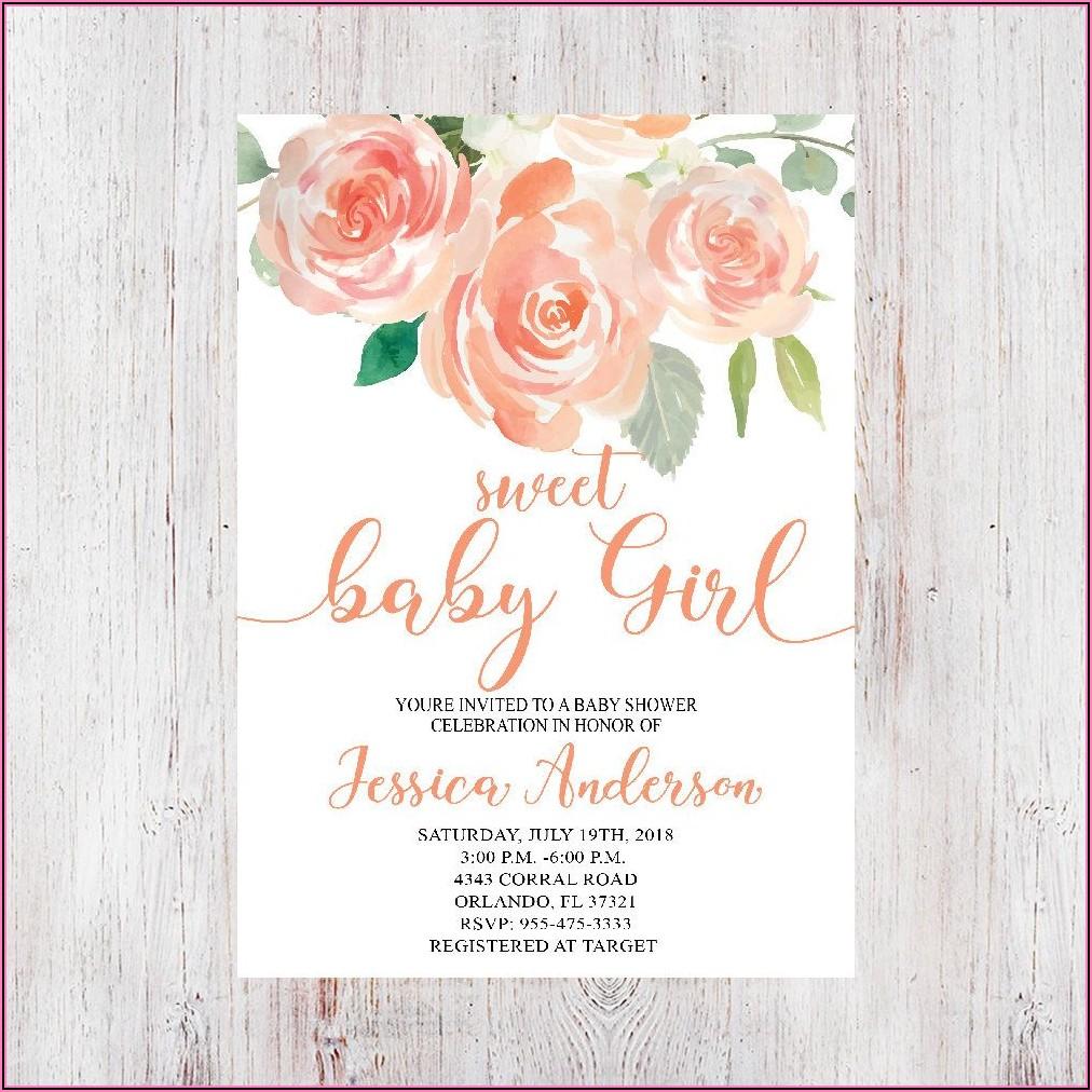 Sweet Baby Girl Invitations