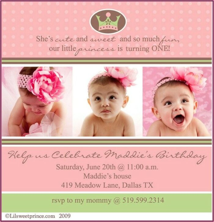 Sweet Baby Girl Theme Invitations