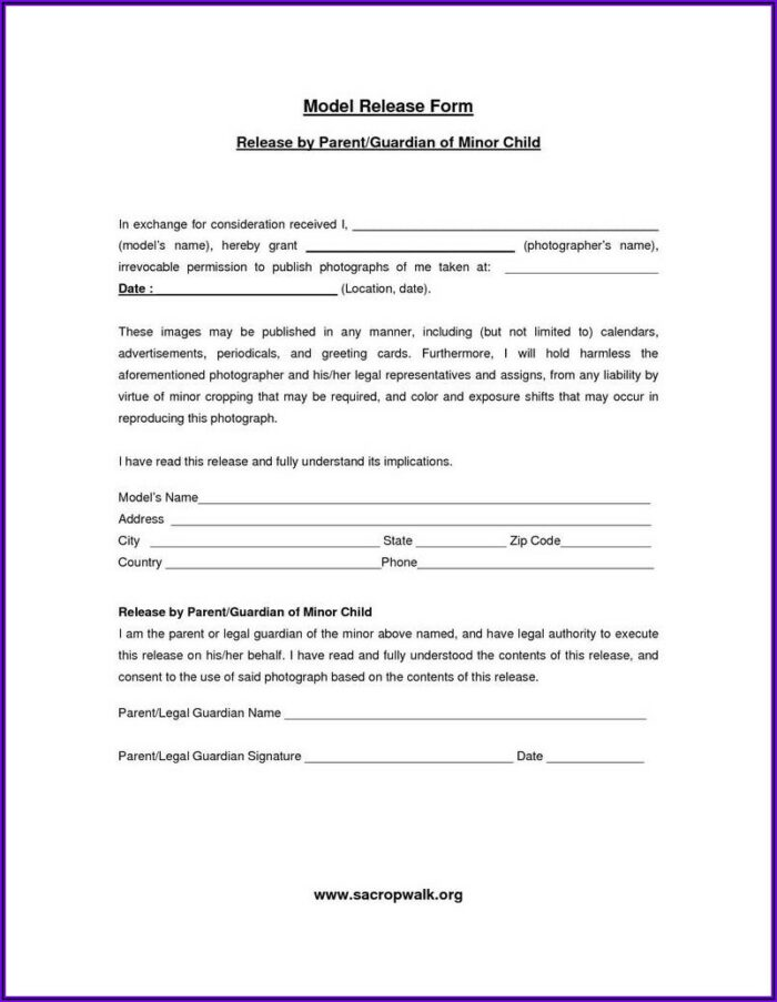 Swimming Pool Waiver Template