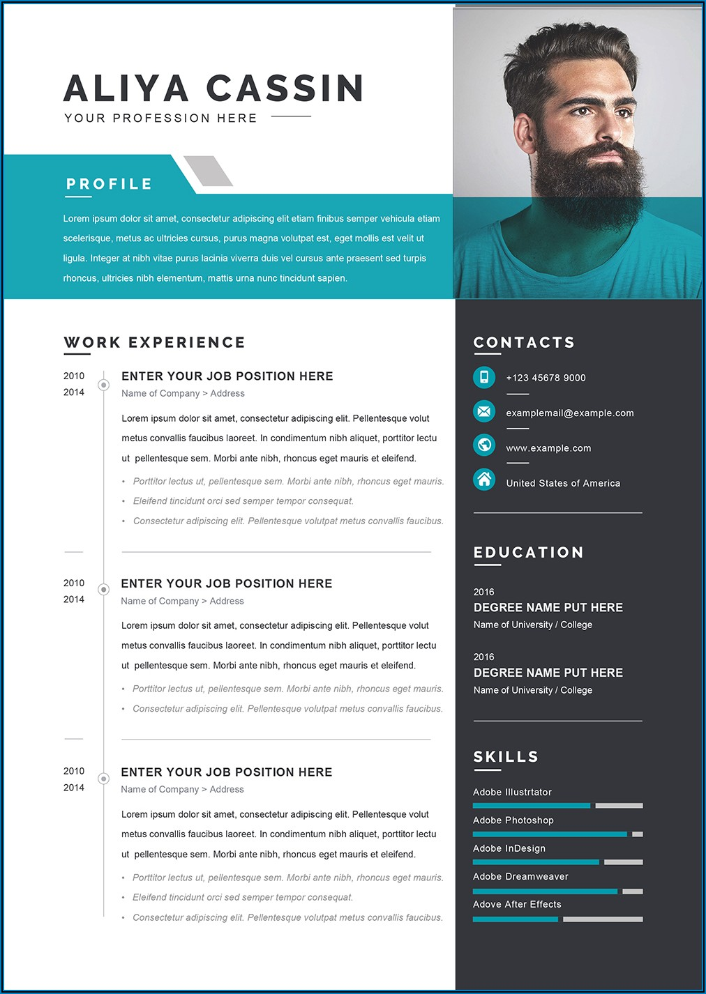 Template For Curriculum Vitae Word