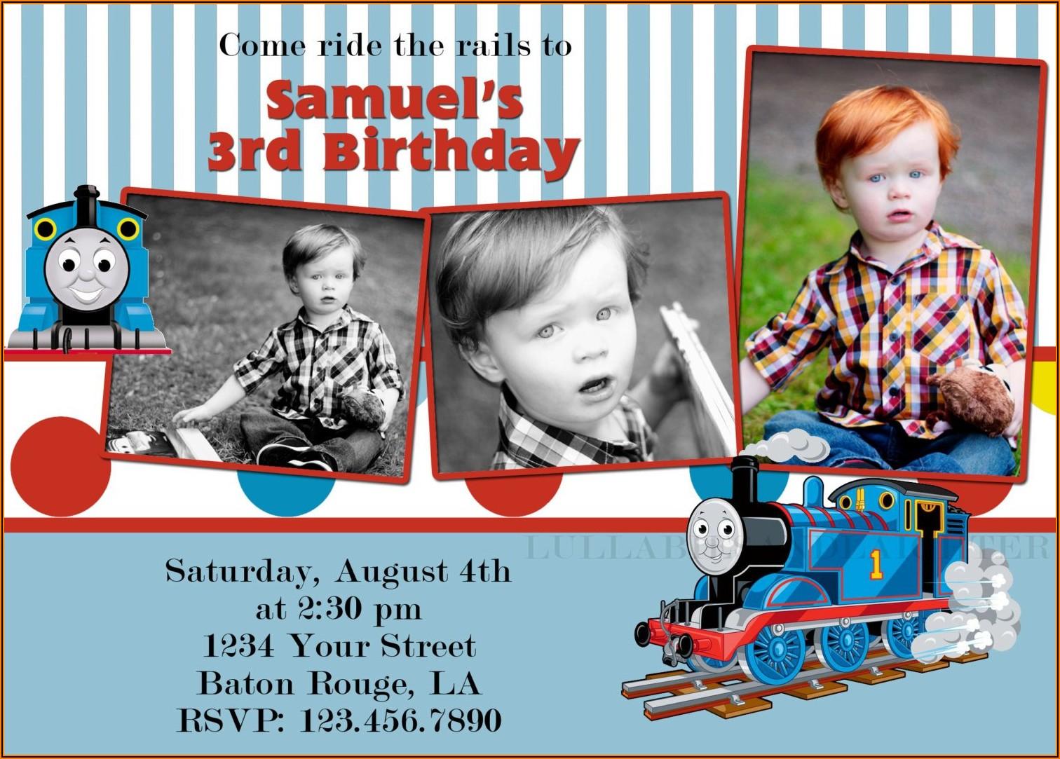 Thomas The Train Birthday Invitations Template Free