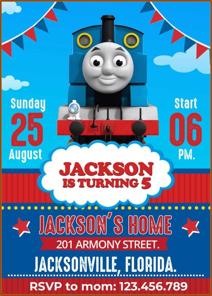 Thomas The Train Birthday Invitations Walmart