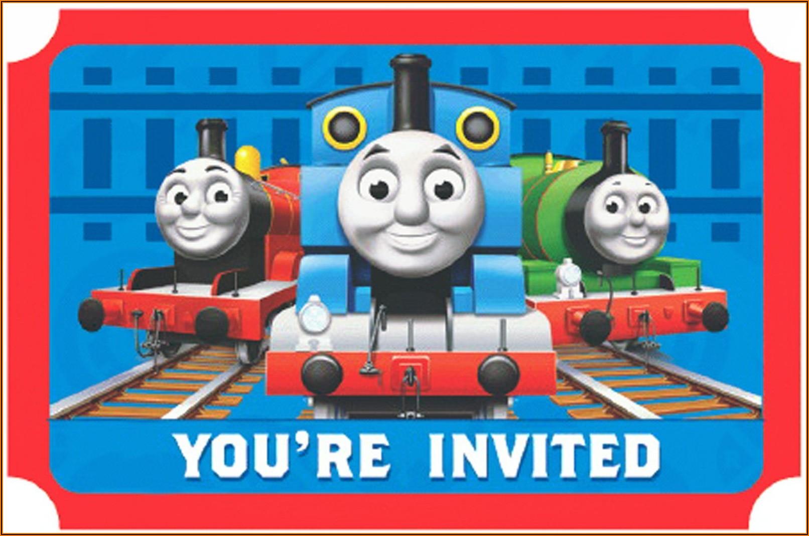 Thomas The Train Birthday Party Invites