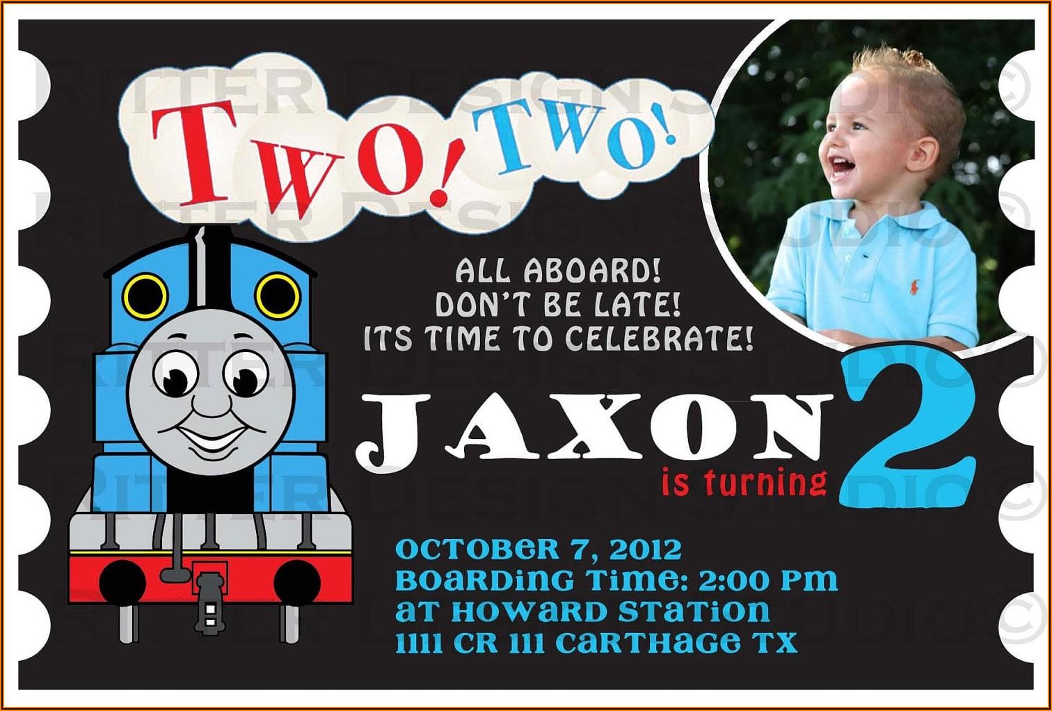 Thomas The Train Invitations Personalized