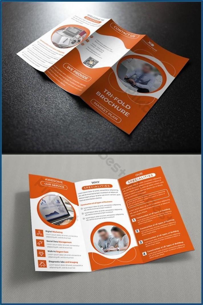 Tri Fold Brochure Design Template Ai