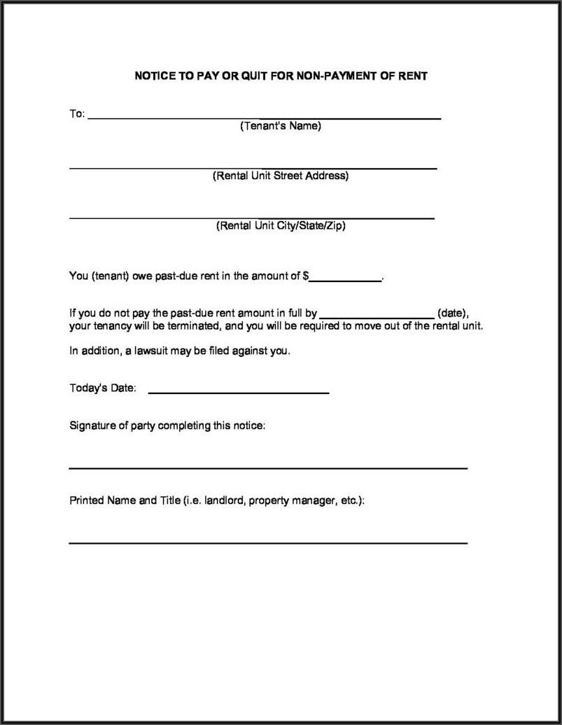 Va Eviction Notice Form