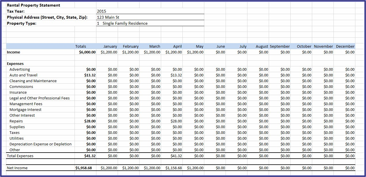 Vacation Rental Property Bookkeeping Template