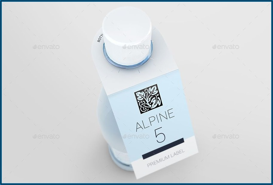 Water Bottle Neck Tags Template