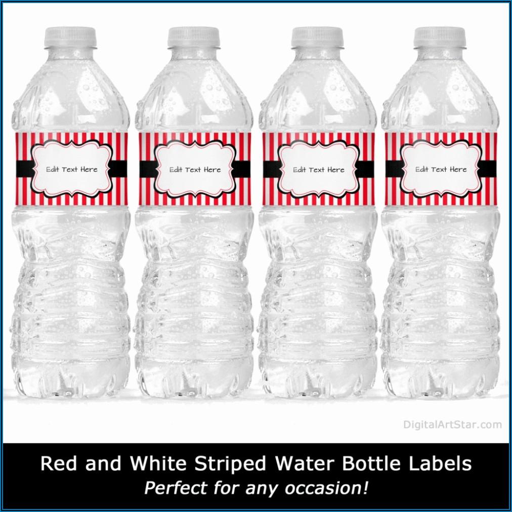 Water Bottle Stickers Template