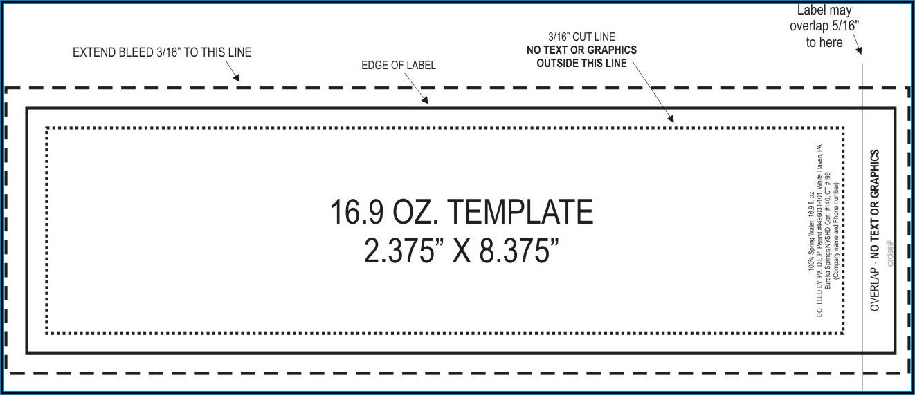Water Bottle Tags Template