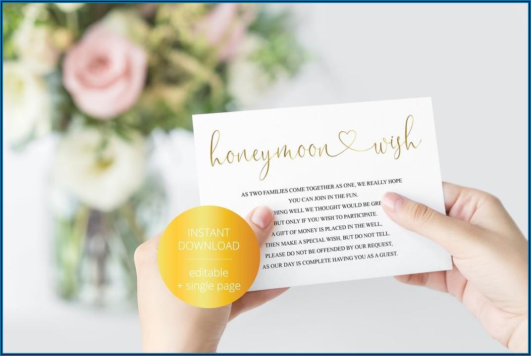 Wedding Guest Information Card Template