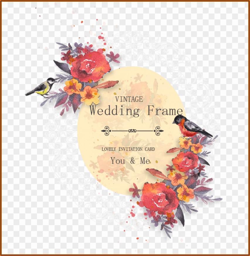 Wedding Invitation Card Background Png